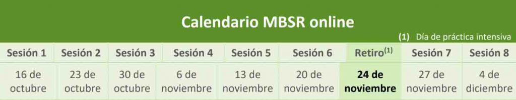 calendario mbsr adaptic online