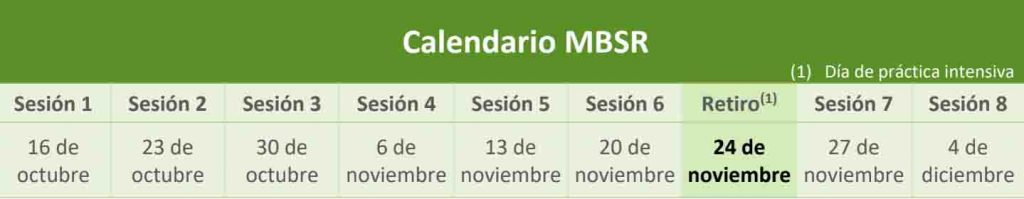 calendario mbsr adaptic barcelona